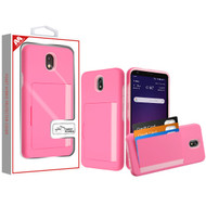 MyBat Poket Hybrid Protector Cover (with Back Film) for Lg X320 (Escape Plus) - Pink / Soft Pink