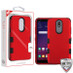MyBat TUFF Hybrid Protector Cover [Military-Grade Certified] for Lg X320 (Escape Plus) - Titanium Red / Black