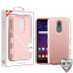 MyBat TUFF Hybrid Protector Cover [Military-Grade Certified] for Lg X320 (Escape Plus) - Rose Gold / Rose Gold
