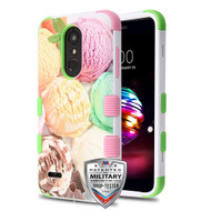 MyBat TUFF Hybrid Protector Cover [Military-Grade Certified] for Lg K10 (2018) - Ice Cream Scoops / Electric Green & Soft Pink