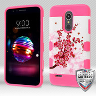 MyBat TUFF Trooper Hybrid Protector Cover [Military-Grade Certified] for Lg K10 (2018) - Spring Flowers / Electric Pink