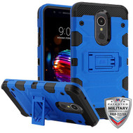 MyBat Storm Tank Hybrid Protector Cover [Military-Grade Certified] for Lg K10 (2018) - Blue / Black