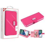 MyBat MyJacket Wallet Xtra Series for Lg K31 (Aristo 5)/Fortune 3 - Hot Pink / Pink