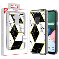 MyBat Fusion Protector Cover for Lg K31 (Aristo 5)/Fortune 3 - Electroplated Black Marbling