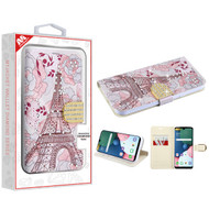 MyBat MyJacket Wallet Diamond Series for Lg K31 (Aristo 5)/Fortune 3 - Eiffel Tower