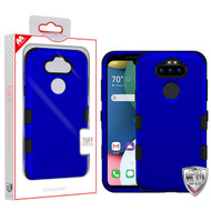 MyBat TUFF Hybrid Protector Cover [Military-Grade Certified] for Lg K31 (Aristo 5)/Fortune 3 - Titanium Dark Blue / Black