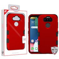 MyBat TUFF Hybrid Protector Cover [Military-Grade Certified] for Lg K31 (Aristo 5)/Fortune 3 - Titanium Red / Black
