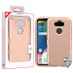 MyBat TUFF Hybrid Protector Cover [Military-Grade Certified] for Lg K31 (Aristo 5)/Fortune 3 - Rose Gold / Rose Gold