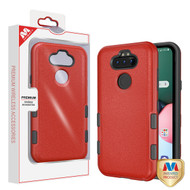 MyBat TUFF Subs Hybrid Case for Lg K31 (Aristo 5)/Fortune 3 - Natural Red / Black