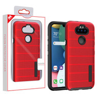 MyBat Fusion Protector Cover for Lg K31 (Aristo 5)/Fortune 3 - Red Dots Textured / Black