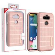 MyBat Fusion Protector Cover for Lg K31 (Aristo 5)/Fortune 3 - Rose Gold Dots Textured / Rose Gold