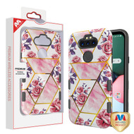 MyBat TUFF Subs Hybrid Case for Lg K31 (Aristo 5)/Fortune 3 - Roses Marble / Black