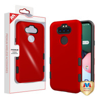 MyBat TUFF Subs Hybrid Case for Lg K31 (Aristo 5)/Fortune 3 - Titanium Red / Black