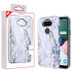 MyBat Fuse Hybrid Protector Cover for Lg K31 (Aristo 5)/Fortune 3 - White Marbling / Iron Gray