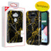 MyBat Fuse Hybrid Protector Cover for Lg K31 (Aristo 5)/Fortune 3 - Electroplated Black Marbling / Black