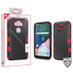 MyBat TUFF Hybrid Protector Cover [Military-Grade Certified] for Lg K31 (Aristo 5)/Fortune 3 - Natural Black / Red