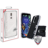 MyBat TUFF Lucid Hybrid Protector Cover [Military-Grade Certified] for Lg K40 - Transparent Clear / Transparent Clear