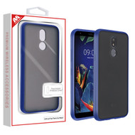 MyBat Frost Hybrid Protector Cover for Lg K40 - Semi Transparent Smoke Frosted / Rubberized Ink Blue