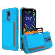MyBat Poket Hybrid Protector Cover (with Back Film) for Lg K40 - Blue / Gray