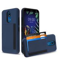 MyBat Poket Hybrid Protector Cover (with Back Film) for Lg K40 - Ink Blue / Black