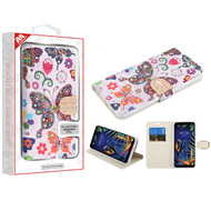 MyBat MyJacket Wallet Diamond Series for Lg K40 - Butterfly Wonderland