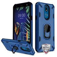 MyBat Brigade Hybrid Protector Cover (with Ring Stand) for Lg K40 - Ink Blue / Black