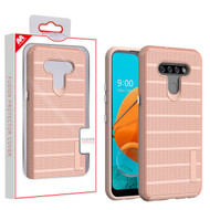 MyBat Fusion Protector Cover for Lg K51 - Rose Gold Dots Textured / Rose Gold