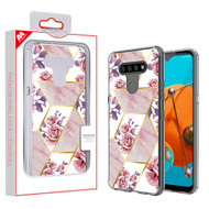 MyBat Fusion Protector Cover for Lg K51 - Electroplated Roses Marbling