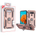 MyBat Anti-Drop Hybrid Protector Cover (with Ring Stand) for Lg K51 - Rose Gold / Black