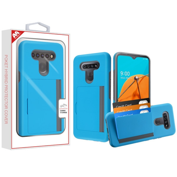 MyBat Poket Hybrid Protector Cover (with Back Film) for Lg K51 - Blue / Gray