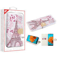 MyBat MyJacket Wallet Diamond Series for Lg K51 - Eiffel Tower