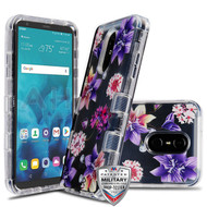 MyBat TUFF Lucid Hybrid Protector Cover [Military-Grade Certified] for Lg Stylo 4 - Transparent Clear / Purple Stargazers