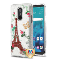 MyBat Full Glitter TUFF Hybrid Protector Cover for Lg Stylo 4 - Paris Monarch Butterflies Diamante