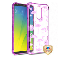 MyBat TUFF Klarity Candy Skin Cover (with Package) for Lg Stylo 4 - Purple Plating & Flamingo Land Diamante