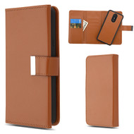 MyBat Detachable Magnetic 2 - in - 1 MyJacket Wallet (PC Case + Leather Folio) for Lg Stylo 4 - Brown