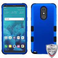 MyBat TUFF Hybrid Protector Cover [Military-Grade Certified] for Lg Stylo 4 - Titanium Dark Blue / Black