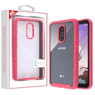 MyBat Splash Hybrid Case for Lg Stylo 5 - Highly Transparent Clear / Red