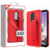 MyBat Fuse Hybrid Protector Cover (With Red Wristband Stand) for Lg Stylo 5 - Rubberized Red / Black