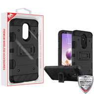 MyBat Storm Tank Hybrid Protector Cover [Military-Grade Certified] for Lg Stylo 5 - Black / Black