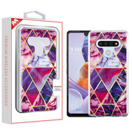 MyBat Fusion Protector Cover for Lg Stylo 6 - Electroplated Purple Marbling