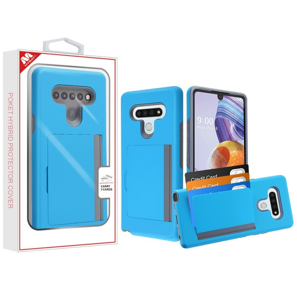 MyBat Poket Hybrid Protector Cover (with Back Film) for Lg Stylo 6 - Blue / Gray