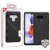 MyBat TUFF Hybrid Phone Protector Cover [Military-Grade Certified] for Lg Stylo 6 - Rubberized Black / Black