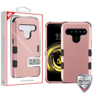 MyBat TUFF Hybrid Protector Cover [Military-Grade Certified] for Lg V50 ThinQ - Rose Gold / Black