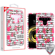 MyBat TUFF Hybrid Protector Cover [Military-Grade Certified] for Lg V50 ThinQ - Pink Fresh Roses / Electric Pink