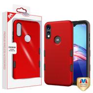 MyBat TUFF Subs Hybrid Case for Motorola Moto E (2020) - Titanium Red / Black