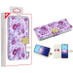 MyBat MyJacket Wallet Diamond Series for Motorola Moto E (2020) - Fresh Purple Flowers