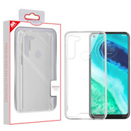 MyBat Sturdy Gummy Cover for Motorola Moto G Fast - Highly Transparent Clear / Transparent Clear