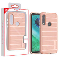MyBat Fusion Protector Case for Motorola Moto G Fast - Rose Gold Dots Textured / Rose Gold