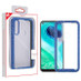 MyBat Hybrid Case for Motorola Moto G Fast - Highly Transparent Clear / Blue Splash