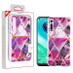 MyBat Fusion Protector Cover for Motorola Moto G Fast - Electroplated Purple Marbling